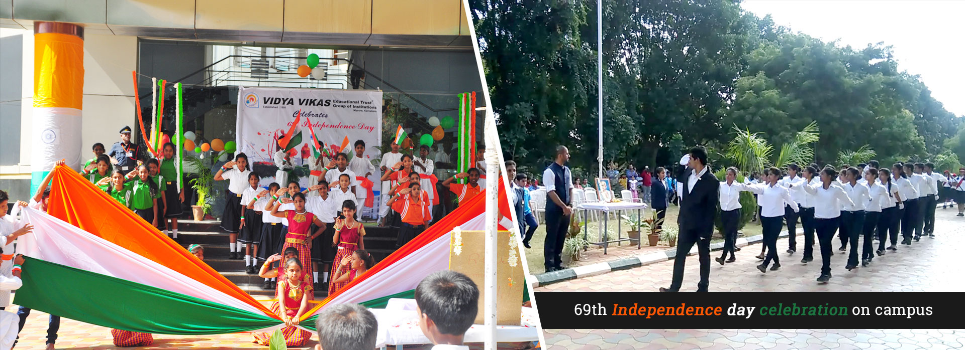 69th Independence day celebrations on campus